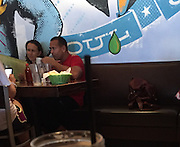 Exclusive <br /> Yankees star Alex Rodriguez is dating the ex-wife of Google co-founder Sergey Brin, Anne Wojcicki, <br /> Alex and Anne are holding hands and hanging out with two other women, one of whom may be Anne's sister, pictured at green lemon in Tampa bay Florida , <br /> Alex has previously been linked to the likes of Cameron Diaz,  Kate Hudson and Madonna so the Silicon Valley CEO is a distinct departure from his 'usual type'.<br /> According to Page Six, the power couple have been dating for over a month.<br /> ©Exclusivepix Media