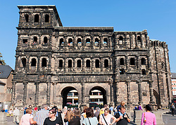 Roman monument Porta Nigra in Trier Rheinland-Palatinate  Germany