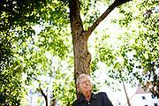 Painter Wayne Thiebaud poses for a portrait in Capitol Park near his Sacramento, Calif. studio September 22, 2010.