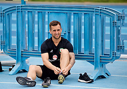 LOS ANGELES, USA - Saturday, May 26, 2018: Wales' masseur Chris Senior during a training session at the UCLA Drake Track and Field Stadium ahead of the International friendly match against Mexico. (Pic by David Rawcliffe/Propaganda)