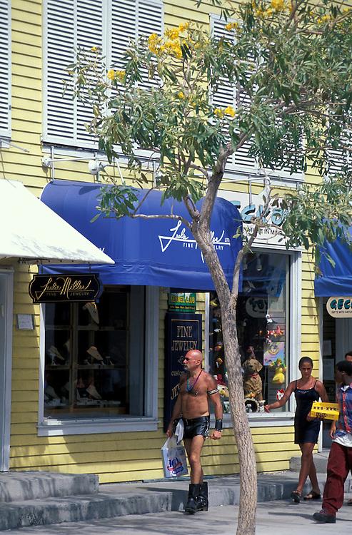 Pedestrians on Duval street, Key West, Florida Keys, Florida, USA