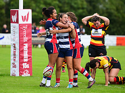 Rhi Parker of Bristol Ladies  celebrates scoring her sides first try - Mandatory by-line: Craig Thomas/JMP - 17/09/2017 - Rugby - Cleve Rugby Ground  - Bristol, England - Bristol Ladies  v Richmond Ladies - Women's Premier 15s