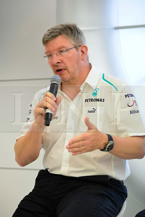 © London News Pictures. 25/06/2013. London, UK. Mercedes F1 boss Ross Brawn (right) speaking at a IWC watches promotion at Selfridges store in London. Photo credit : Abdel Abdulai/LNP