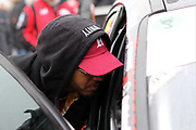 Formula 1 driver Lewis Hamilton talks to his brother Nicolas Hamilton ahead of Nic's first race in the British Touring Car Championship (BTCC) at  Brands Hatch, Fawkham, United Kingdom on 7 April 2019.