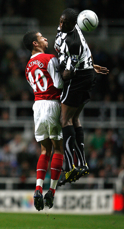 27/10/2010 Carling Cup 4th Rd.Newcastle United v Arsenal<br /> Nile Ranger and Craig Eastmond<br /> Photo: Mark Robinson.