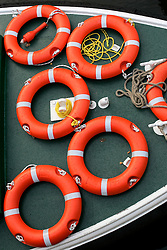 UK ENGLAND BATH 1OCT05 - Life rescue rings on board a river barge moored on the River Avon in Bath...jre/Photo by Jiri Rezac..© Jiri Rezac 2005.Contact: +44 (0) 7050 110 417.Mobile: +44 (0) 7801 337 683.Office: +44 (0) 20 8968 9635..Email: jiri@jirirezac.com.Web: www.jirirezac.com..© All images Jiri Rezac 2005 - All rights reserved.