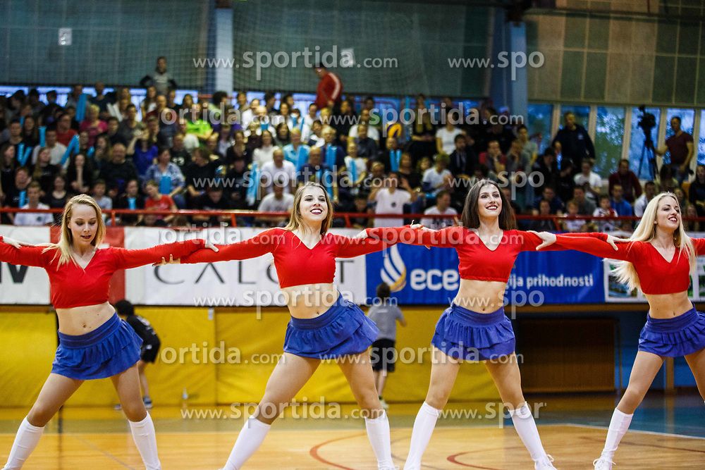 Dancers during volleyball match between Calcit Volley and ACH Volley in Final of 1. DOL Slovenian Man national Championship 2016/17 on 24th of April, 2017 in Kamnik, Slovenija.  Photo by Grega Valancic / Sportida