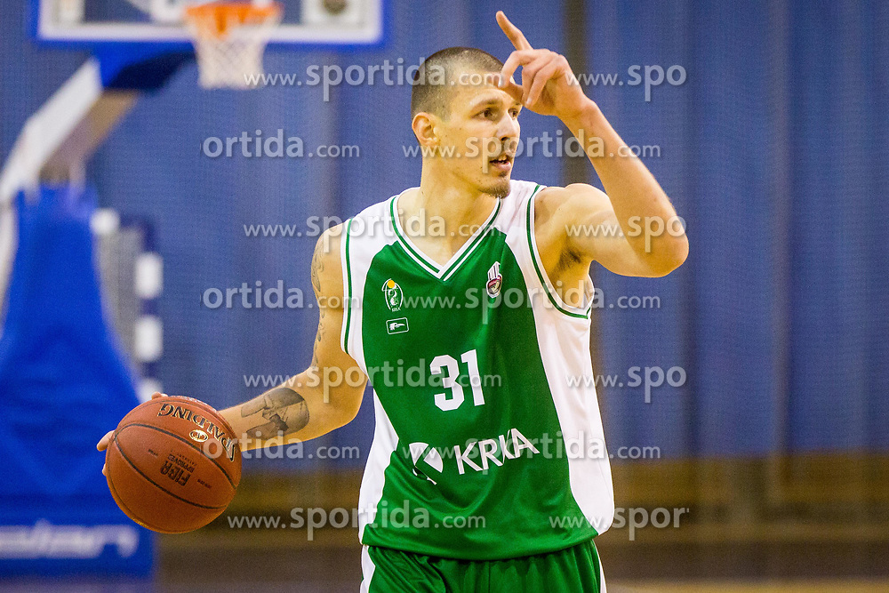 Ziga Fifolt of KK Krka during basketball match between KK Ilirija and KK Krka in Round #5 of Liga Nova KBM 2017/18, on November 4, 2017 in Hala Tivoli, Ljubljana, Slovenia. Photo by Ziga Zupan / Sportida