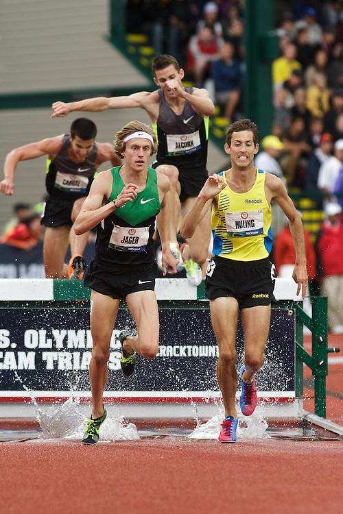 Olympic Trials Eugene 2012: 3000 meter steeplechase, Evan Jager leads Cabral, Alcorn, Huling to win