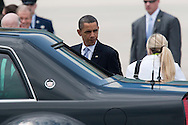 CAPE CANAVERAL, FL -  APRIL 15:  United States President Barack Obama walks to his limo after exiting Air Force One at the shuttle landing facility at Kennedy Space Center April 15, 2010 in Cape Canaveral. Obama was holding a summit to discuss the future of the space program. (Photo by Matt Stroshane/Getty Images)
