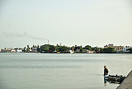 The calm waters of Cienfuegos Bay
