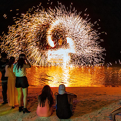 Flamethrower on the beach in Koh Samui, Thailand 2014