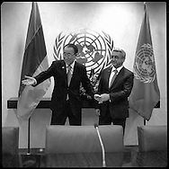 Serzh Sargsyan, President of Armenia,with United Nations Secretary General Ban Ki moon.