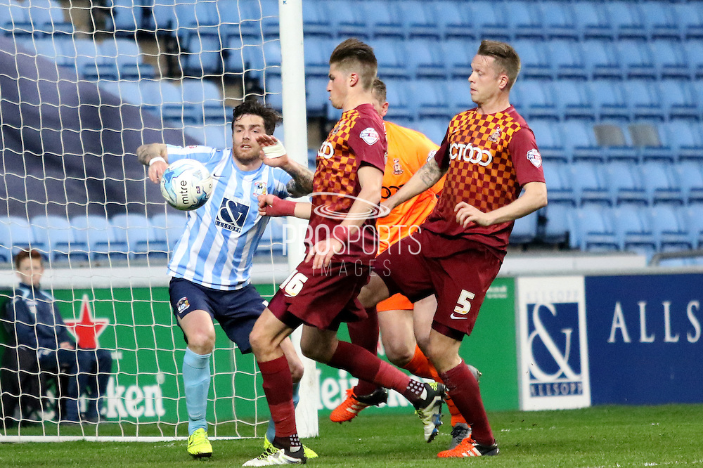Coventry midfielder Romain Vincelot during the Sky Bet League 1 match between Coventry City and Bradford City at the Ricoh Arena, Coventry, England on 19 April 2016. Photo by Chris Wynne.