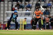 Fi Morris of Southern Vipers batting during the Women's Cricket Super League match between Southern Vipers and Yorkshire Diamonds at the Ageas Bowl, Southampton, United Kingdom on 21 August 2019.