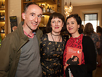 REPRO FREE:  Jim Connolly Atlantic language with Sinead McPhillips GIAF and Elena Toniato from Atlantic language in Hotel Meyrick for the announcement of the programme for the 2018 Galway International Arts Festival Programme 16-29 July which features an exciting Irish and international programme of theatre, opera, dance, circus, music, spectacle, visual art, and First Thought Talks featuring interviews and discussions on the theme of home, six world premieres, five Irish premieres and artists and theatre makers from across the world. Highlights include world premieres of Paul Muldoon's Incantata, new plays by Sonya Kelly and Cristin Kehoe (Druid) and a new theatre installation from Enda Walsh, visual arts / installations commissions from David Mach Rock 'n' Roll and Olivier Grossetête The People Build. Photo:Andrew Downes, xposure.