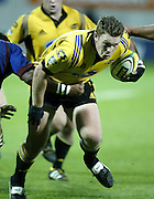 19 April 2003, Yarrow Stadium New Plymouth, <br />Super 12 Rugby Union<br />Hurricanes vs Highlanders<br />Hurricane's Kritian Ormsby during the Hurricanes 37-15 win over the Highlanders.<br />Pic: Marty Melville/Photosport