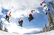 Action from the final rounds at the Sport Chek Lake Louise Snowboard Cross World Cup on December 21, 2013.