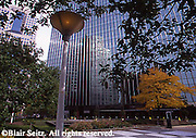 Pittsburgh, PA, Downtown Park, Trees, Skyscrapers