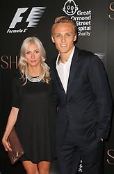 © Licensed to London News Pictures. 02/07/2014, UK. Chloe Roberts; Max Chilton; Marussia , F1 Party in aid of Great Ormond Street , F1 Party in aid of Great Ormond Street Hospital Children's Charity, Victoria and Albert Museum, London UK, 02 July 2014. Photo credit : Richard Goldschmidt/Piqtured/LNP