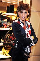 INES DE LA FRESSANGE at a party at Roger Vivier, Sloane Street, London on 2nd December 2008.