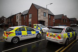 © Licensed to London News Pictures . 13/12/2015 . Bolton , UK . Police at the scene . Greater Manchester Police report they are conducting a murder investigation after a man was stabbed on Brightmeadow Place in Breightmet in Bolton . Photo credit : Joel Goodman/LNP