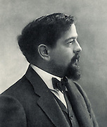 (Achille) Claude Debussy (1862-1919) French composer. From a photograph by Nadar, pseudonym of Gaspard-Felix Tournachon (1820-1910).