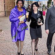 NLD/Naarden/20160325 - Mattheus Passion 2016 Naarden, Joyce Sylvester en kamervoorzitter Khadija Arib