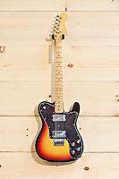 Fender telecaster deluxe orange and black guitar