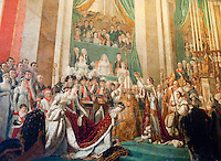 Palace of Versailles. Tapestry depicting the crowning of Napoleon.