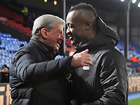Football - 2019 / 2020 Premier League - Crystal Palace vs. West Ham United<br /> <br /> Crystal Palace Manager, Roy Hodgson congratulates Winning goal scorer, Jordan Ayew, at Selhurst Park.<br /> <br /> COLORSPORT/ANDREW COWIE