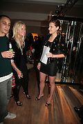 OLYMPIA SCARRY AND SARA BREJOVIC,  Twenty Hoxton Square. Opening exhibition of new gallery at Twenty Hoxton Square. -DO NOT ARCHIVE-© Copyright Photograph by Dafydd Jones. 248 Clapham Rd. London SW9 0PZ. Tel 0207 820 0771. www.dafjones.com.