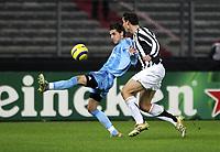 TURIN - TURIJN (ITALIE - ITALIA) - STADIO DELLE ALPI 22/11/2005  <br /> SPORT / FOOTBALL / VOETBAL / CHAMPIONS LEAGUE  / LIGUE DES CHAMPIONS / JUVENTUS FC - CLUB BRUGGE / <br /> JAVIER PORTILLO - GIORGIO CHIELLINI<br />  / PICTURE BY   ERIC LALMAND  <br /> ©Digitalsport