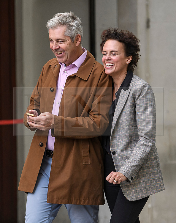 © Licensed to London News Pictures. 19/09/2019. London, UK. Co-presenter JUSTIN WEBB is sen leaving BBC Broadcasting House in London after broadcaster John Humphrys presented his final day on the BBC Radio 4 Today Programme. Photo credit: Ben Cawthra/LNP
