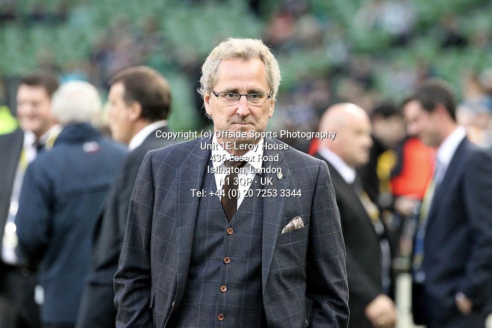 06/09/2013 FIFA 2014 World Cup Qualifying - Group C . Rep of Ireland v Sweden<br /> Sweden's Manager Erik Hamren<br /> Photo: John Halas