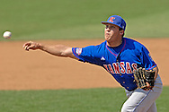 Kansas pitcher Paul Smyth pitched 2/3rd's of an inning against Kansas State.  The Wildcats held on to beat Kansas 5-4 at Tointon Stadium in Manhattan, Kansas, April 23, 2006.