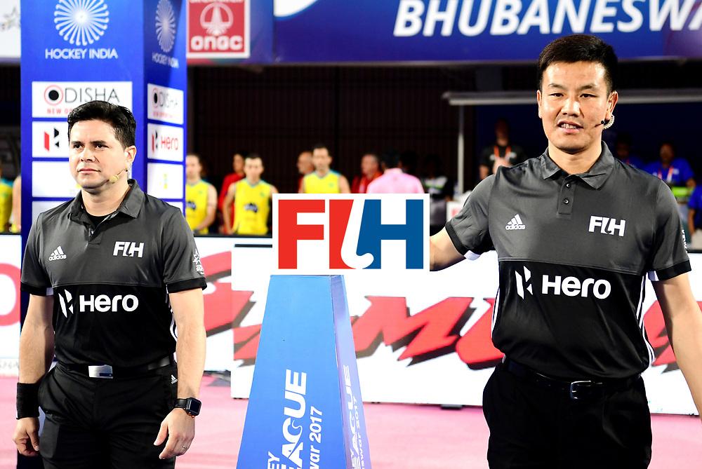 Odisha Men's Hockey World League Final Bhubaneswar 2017<br /> Match id:15<br /> Spain v Australia<br /> Foto: Umpires<br /> COPYRIGHT WORLDSPORTPICS FRANK UIJLENBROEK