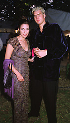 MISS JESSICA DE ROTHSCHILD and her brother MR ANTHONY DE ROTHSCHILD, at a reception in London on 6th June 1998.MIB 144
