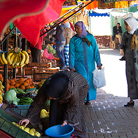 North Africa, Morocco, Fes. Fes Street Market.