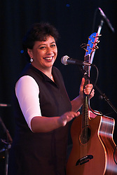 Mahinarangi Tocker performs at the New Zealand International Arts Festival in Wellington on Thursday 4 March 2004.  Her band includes David Downes, Shona Laing, Denny Stanway, Anahera Higgins, James Wilkinson and Jimmy Young, with whom she recorded her album, The Mongrel In Me.