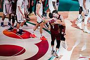 ILCE-9M2 • FE 400mm F2.8 GM OSS<br /> f/4 • ISO 2500 • 1/1250<br /> <br /> Esultanza Vittoria TonutStefano e De NicolaoAndrea <br /> Umana Reyer Venezia - Happy Casa Brindisi<br /> LBA Final Eight 2020 Zurich Connect - Finale<br /> Basket Serie A LBA 2019/2020<br /> Pesaro, Italia - 16 February 2020<br /> Foto Mattia Ozbot / CiamilloCastoria