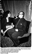 Minnie Driver & Jack Nicholson at the Sasha White/Dominick Shiiak party. Cafe de Paris. London. 10 January 1989.<br />