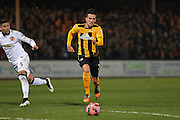 Cambridge United Ryan Donaldson on the ball during the The FA Cup match between Cambridge United and Manchester United at the R Costings Abbey Stadium, Cambridge, England on 23 January 2015. Photo by Phil Duncan.