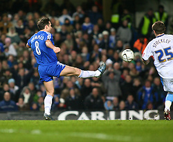 London, England - Tuesday, January 23, 2007: Chelsea's Frank Lampard scores the third goal against Wycombe Wanderers during the League Cup Semi-Final 2nd Leg match at Stamford Bridge. (Pic by Chris Ratcliffe/Propaganda)