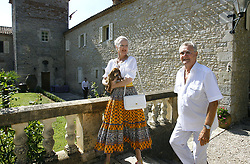 File photo - Queen Margrethe of Denmark and Prince Consort Henrik pose together with their pets during a photocall at royal family's summer residence Chateau de Caix near Cahors, France, on August 9, 2006. Prince Henrik, the French-born husband of Denmark's Queen Margrethe II, has died, the palace announced Wednesday. He was 83. Photo by Patrick Bernard/ABACAPRESS.COM
