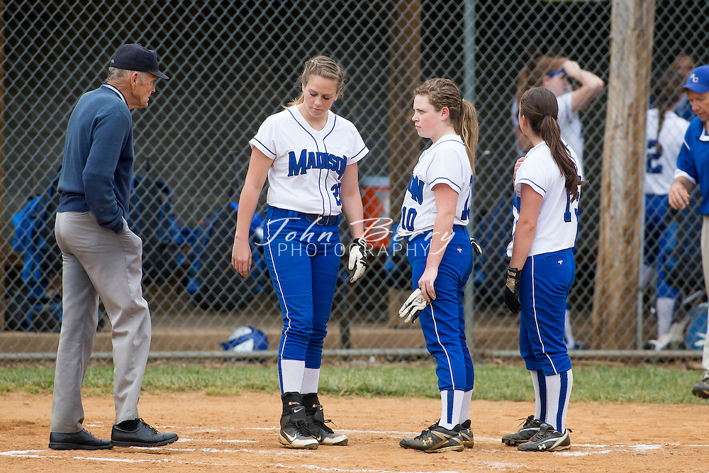 May/27/13:   MCHS Varsity Softball vs Riverheads, Region B Quarter Finals.  Madison defeats Riverheads 16-1 and will host #5 seed Luray on Wednesday night at 7:00pm in the Semi Finals.