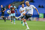 Dean Moxey (Bolton Wanderers) clears the ball during the Pre-Season Friendly match between Bolton Wanderers and Burnley at the Macron Stadium, Bolton, England on 26 July 2016. Photo by Mark P Doherty.