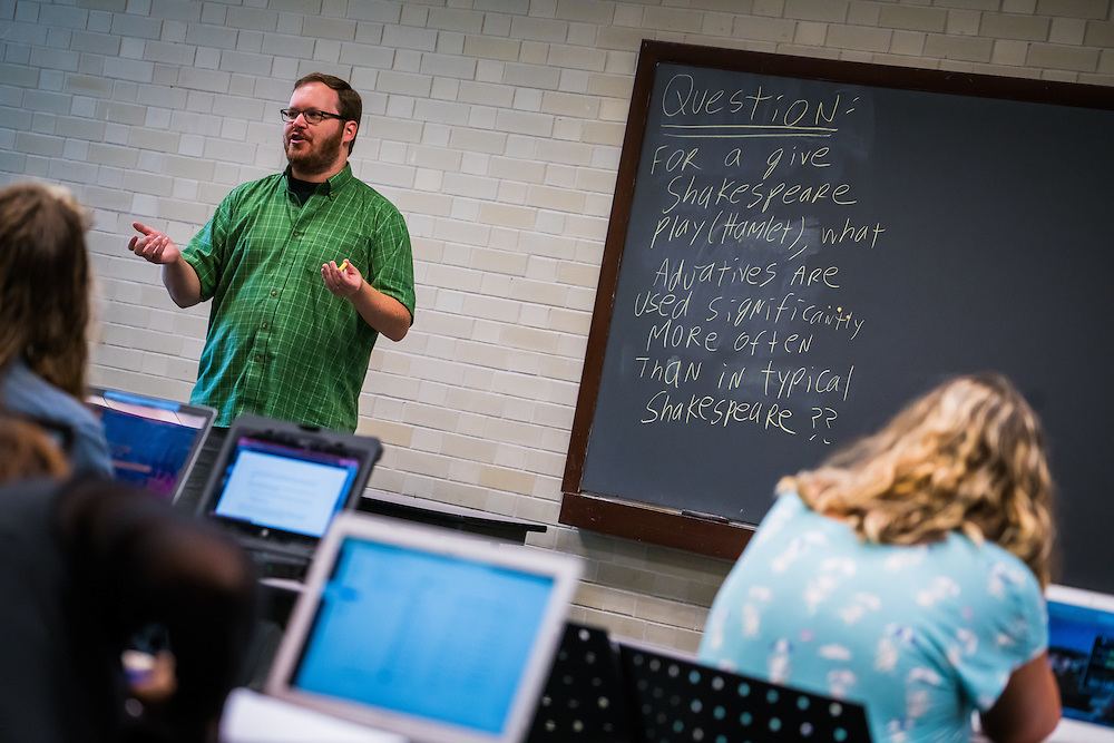 SARASOTA, FL -- August 19, 2016 -- Students take a programming class at New College of Florida in Sarasota, Florida. (PHOTO / New College of Florida, Chip Litherland)
