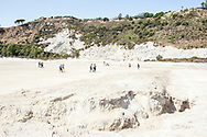18 May 2017, Pozzuoli, Italy - The Solfatara of Pozzuoli is the volcano of Campi Flegrei, situated an area north of Naples made up of about 40 ancient volcanoes. The research, published in Nature Communications, finds that the periods of unrest occurring intermittently since the 1950s – namely small-scale, local earthquakes and ground uplifts – have led to the accumulation of energy within the volcanic crust and an increased susceptibility to eruption.