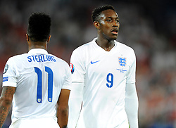 England's Raheem Sterling (Liverpool) (left) and England's Danny Welbeck (Arsenal) (right)  - Photo mandatory by-line: Joe Meredith/JMP - Mobile: 07966 386802 - 08/09/14 - SPORT - FOOTBALL - Switzerland - Basel - St Jacob Park - Switzerland v England - Uefa Euro 2016 Group E Qualifier